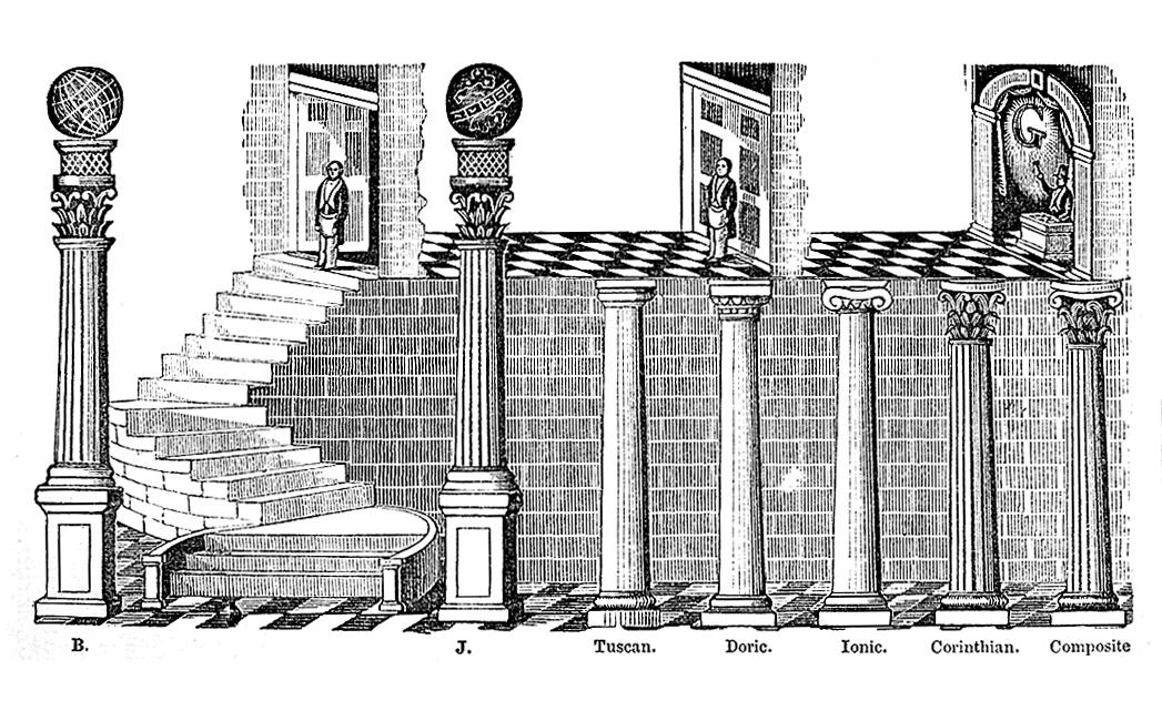 Freemasonry Columns
