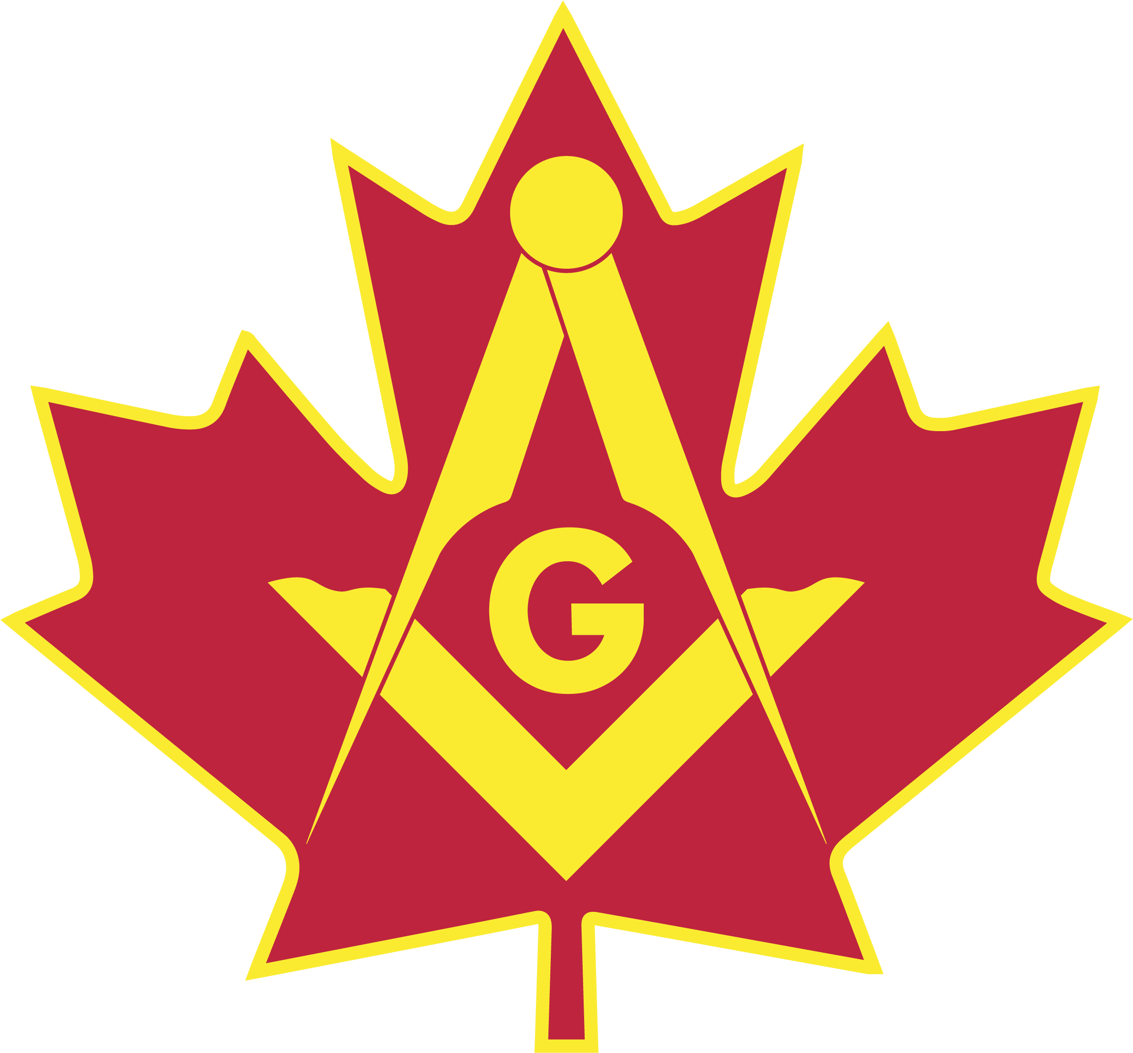 Ontario Masons - Maple Leaf with Square & Compass